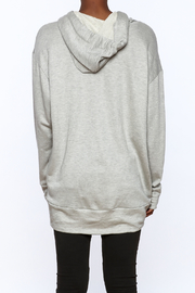 Audrey Grey Hooded Tunic Dress - Back cropped