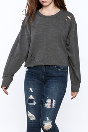 Audrey Grey Long Sleeve Sweater - Product Mini Image