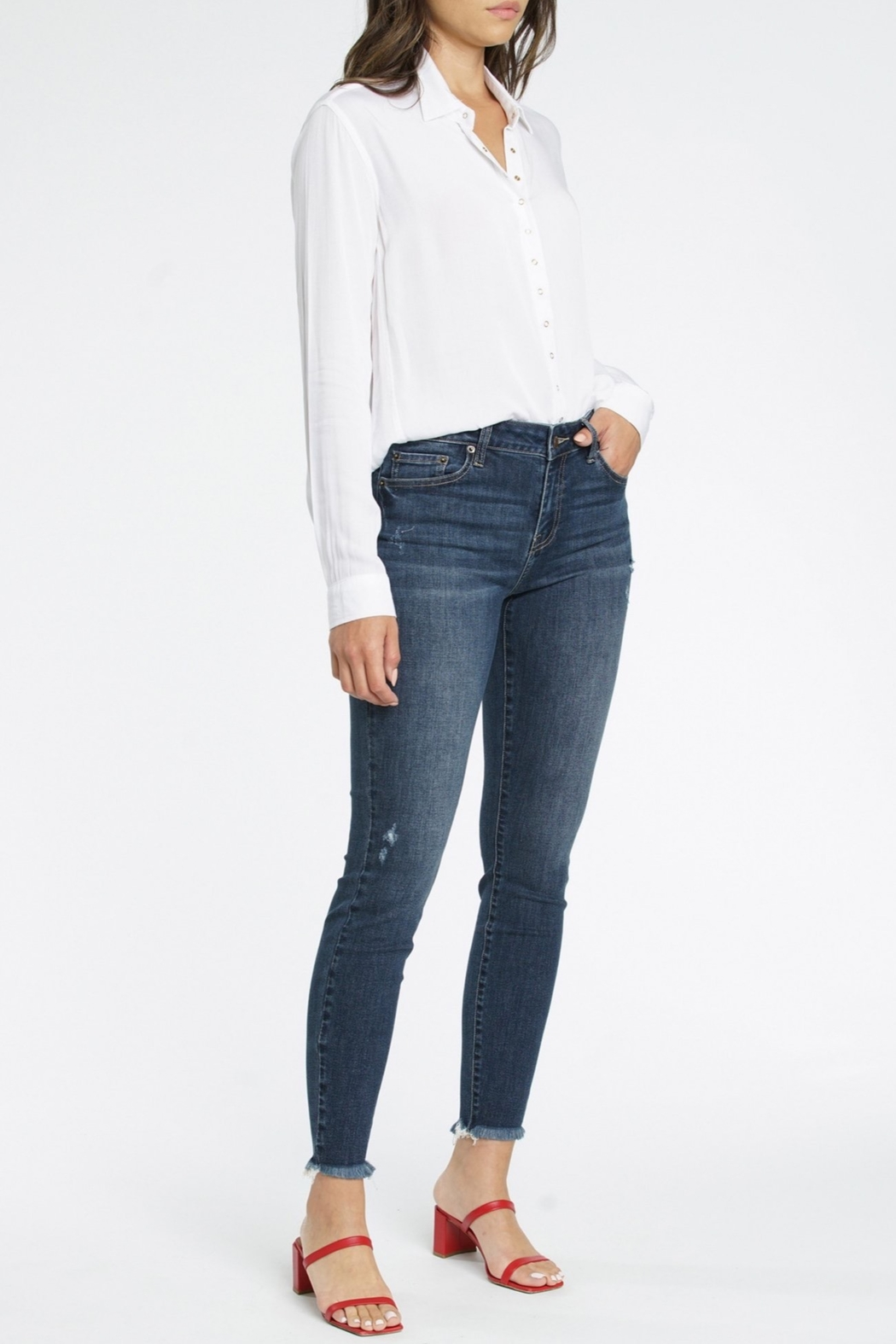 Pistola Audrey Mid Rise Skinny Jean - Front Full Image