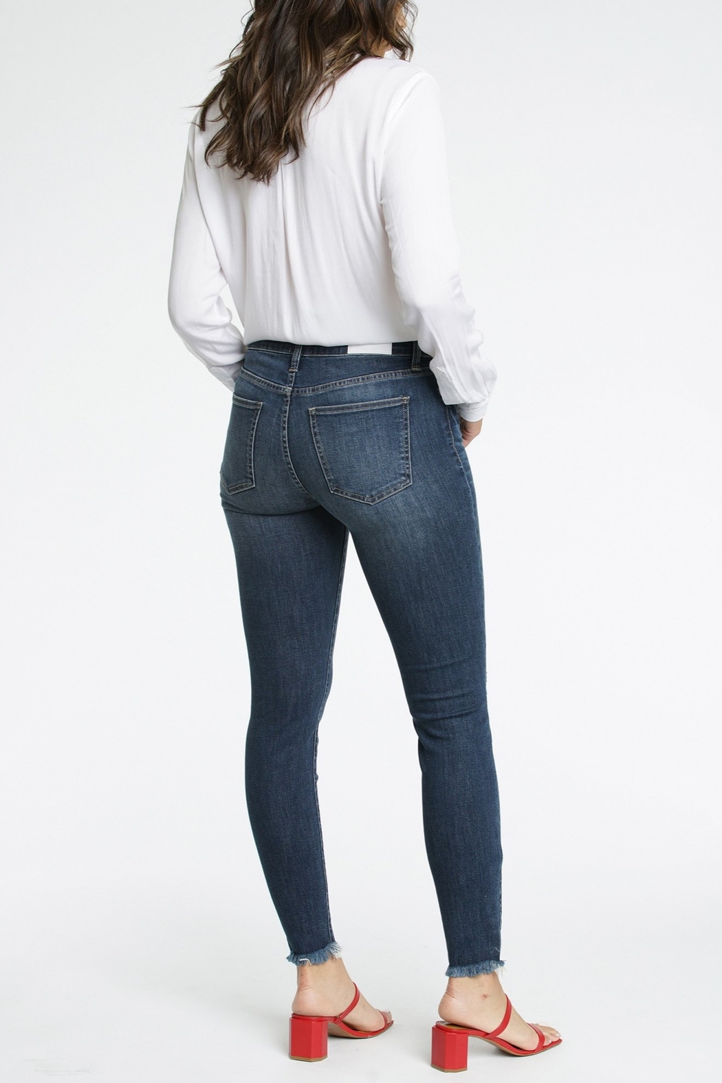 Pistola Audrey Mid Rise Skinny Jean - Side Cropped Image