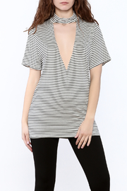Audrey Stripe Tunic Top - Product Mini Image