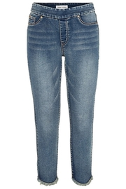Tribal Audrey Pull on jegging with curved frayed hem - Product Mini Image