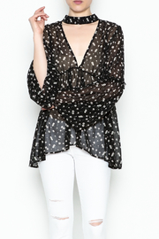 Audrey Sheer Floral Top - Front cropped