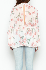 Audrey Sheer Floral Top - Back cropped