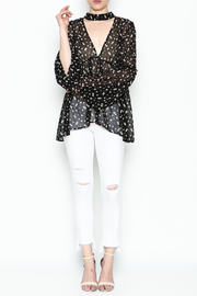 Audrey Sheer Floral Top - Side cropped