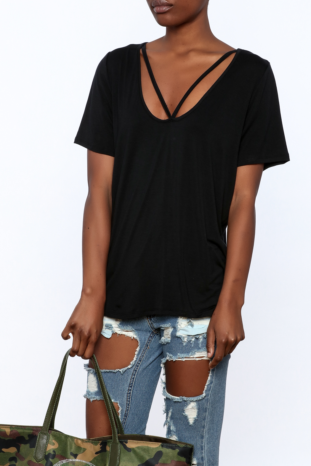 Audrey Casual Long Tee - Front Cropped Image