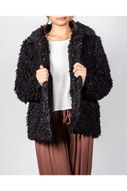 Audrey 3+1 Black Faux-Fur Coat - Product Mini Image