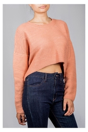 Audrey 3+1 Bubblegum Ribbed Sweater - Side cropped