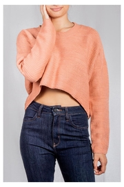 Audrey 3+1 Bubblegum Ribbed Sweater - Product Mini Image