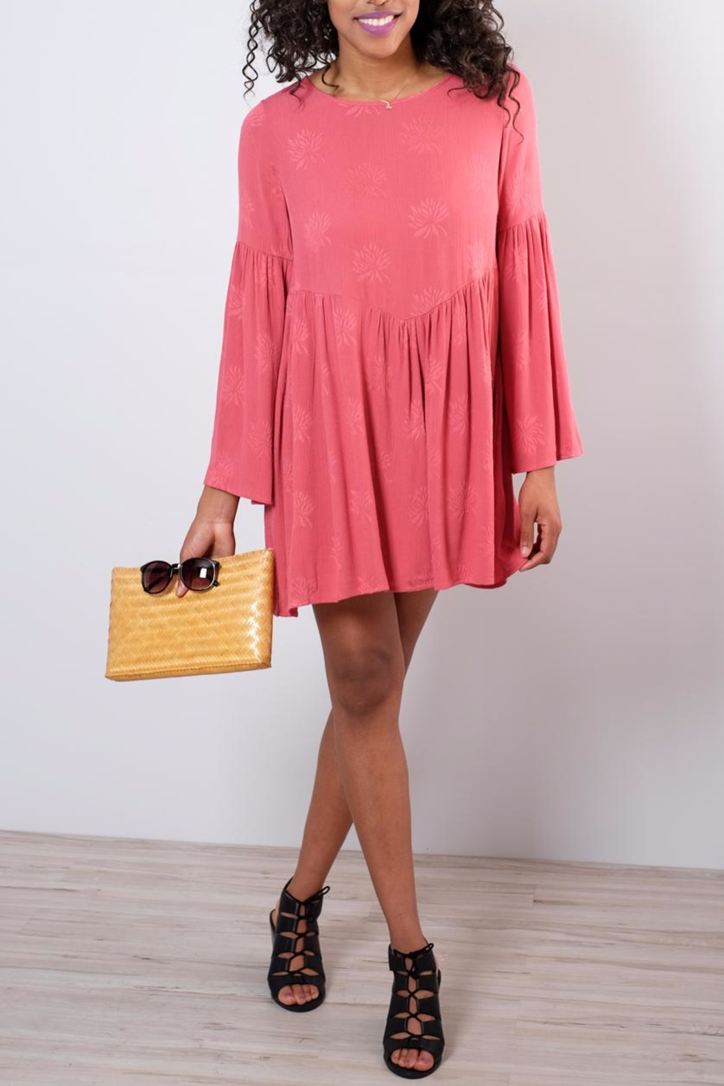 Audrey 3+1 Flare Sleeved Dress - Main Image