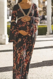 Audrey 3+1 Floral Bell Sleeve Maxi Dress - Back cropped
