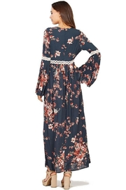 Audrey 3+1 Floral Bell Sleeve Maxi Dress - Side cropped