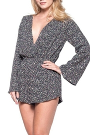Audrey 3+1 Ditsy Floral Wrap Romper - Side cropped