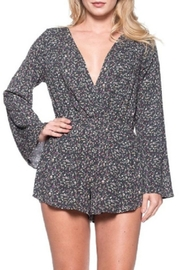 Audrey 3+1 Ditsy Floral Wrap Romper - Front full body
