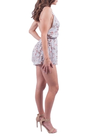 Audrey 3+1 Grey Floral Romper - Front full body
