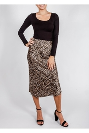 Audrey 3+1 Leopard Slip Skirt - Product Mini Image