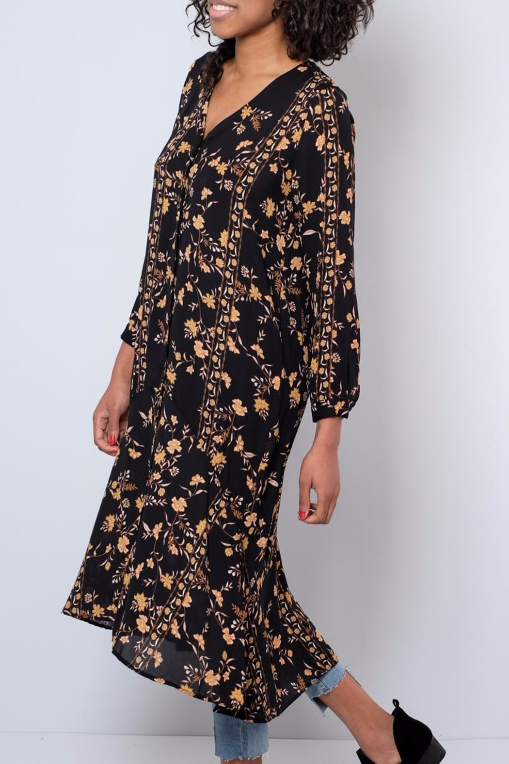 Audrey 3+1 Long Floral Shirt - Front Full Image
