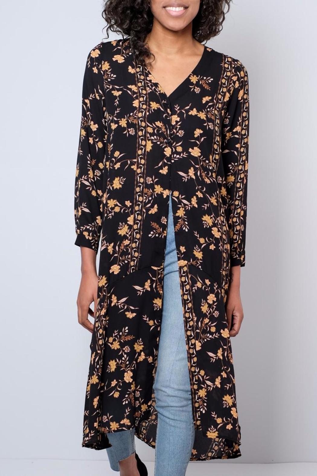 Audrey 3+1 Long Floral Shirt - Main Image