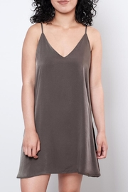 Audrey 3+1 Low-Back Satin Dress - Front full body