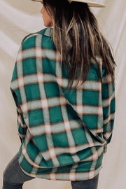 Audrey 3+1 Lumberjack Oversized Top - Front full body