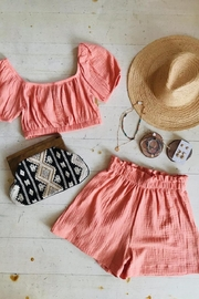 Audrey 3+1 Mi Amor Two Piece Crop Top & High Waisted Short Set - Product Mini Image