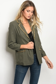 Audrey 3+1 Olive Jacket - Product Mini Image