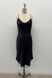Audrey 3+1 Roaring 20's Inspired Satin Camisole Dress In Black - Product Mini Image