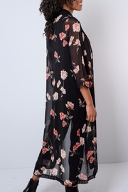 Audrey 3+1 Sheer Floral Duster - Side cropped