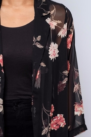 Audrey 3+1 Sheer Floral Duster - Back cropped