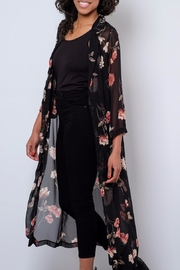 Audrey 3+1 Sheer Floral Duster - Front full body