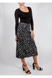 Audrey 3+1 Spots Slip Skirt - Front full body