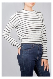 Audrey 3+1 Striped Knit Sweater - Side cropped