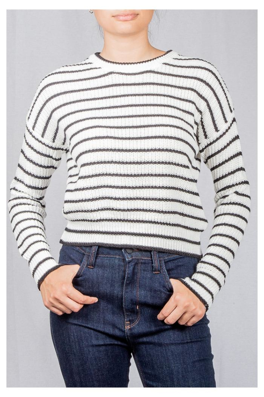 Audrey 3+1 Striped Knit Sweater - Main Image
