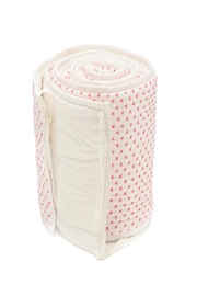 AUGGIE Crib Bumper Pink - Front cropped