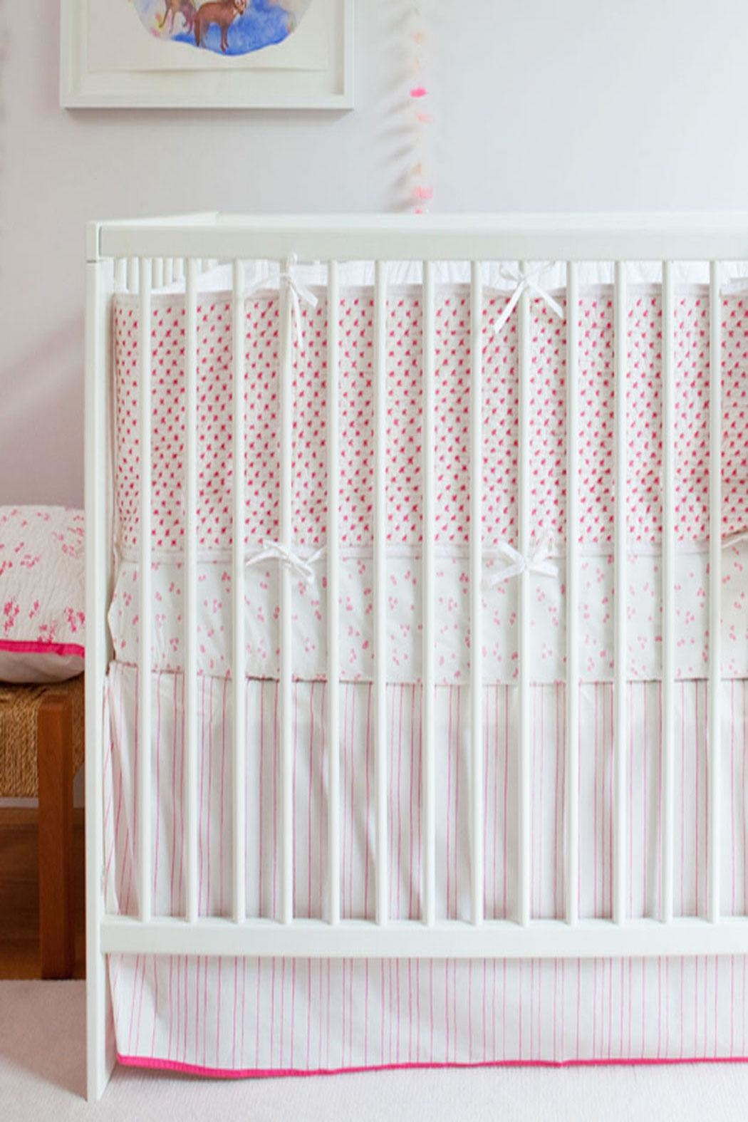 AUGGIE Crib Bumper Pink - Front Full Image