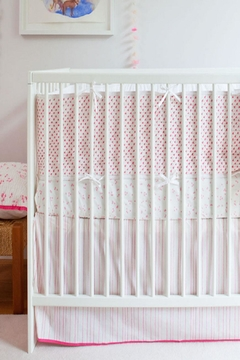 AUGGIE Crib Bumper Pink - Alternate List Image