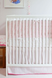 AUGGIE Crib Bumper Pink - Front full body