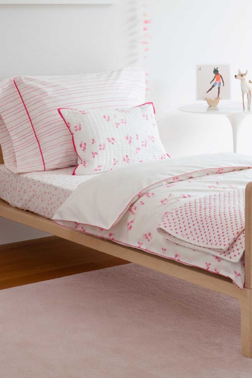 AUGGIE Quilted Pretty-Pink Sham - Front Full Image