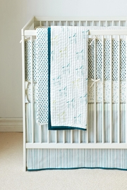 AUGGIE Striped Crib Skirt - Product Mini Image