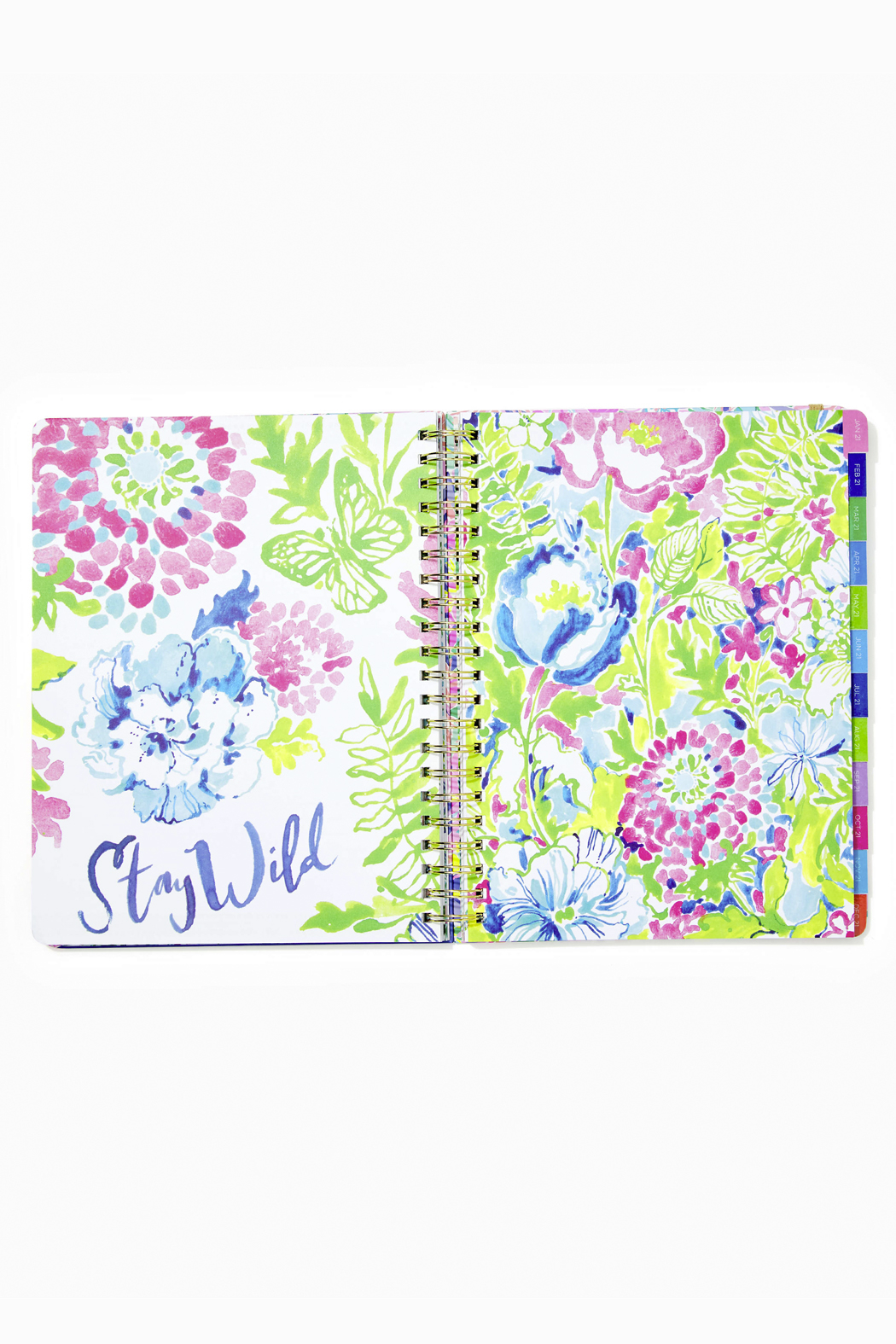 Lilly Pulitzer August 2020-December 2021 Jumbo Agenda - 17 month - Back Cropped Image