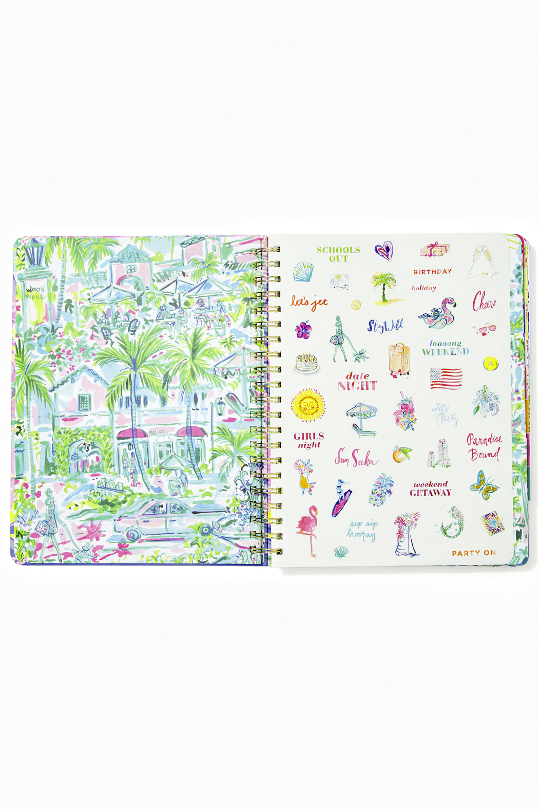 Lilly Pulitzer August 2020-December 2021 Jumbo Agenda - 17 month - Side Cropped Image