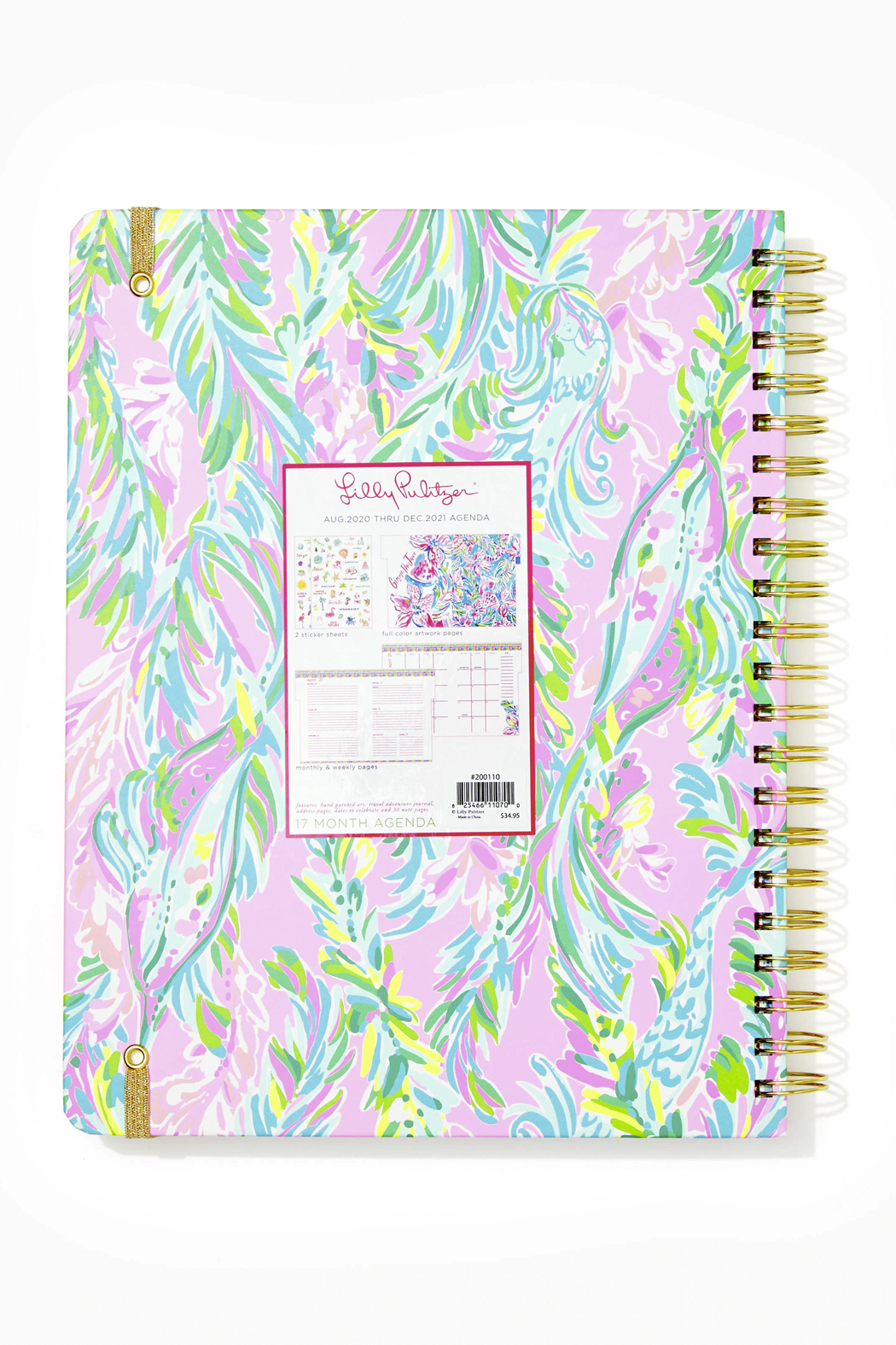 Lilly Pulitzer August 2020-December 2021 Jumbo Agenda - 17 month - Front Full Image