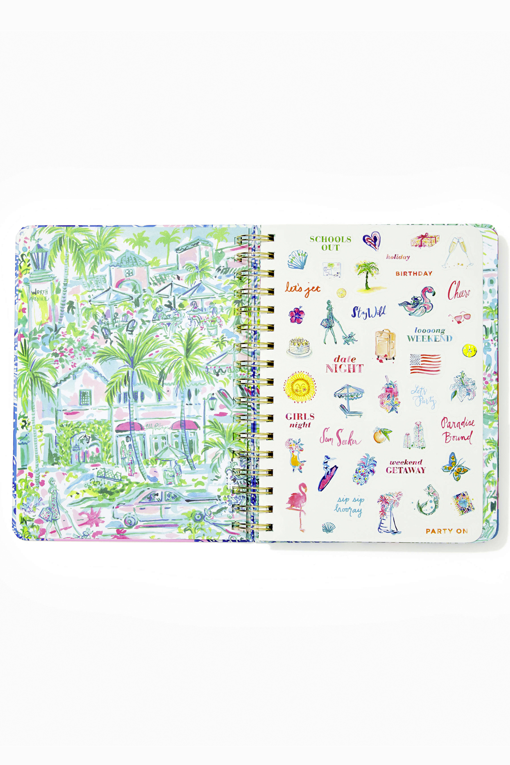 Lilly Pulitzer August 2020-December 2021 Large Agenda - 17 Month - Side Cropped Image