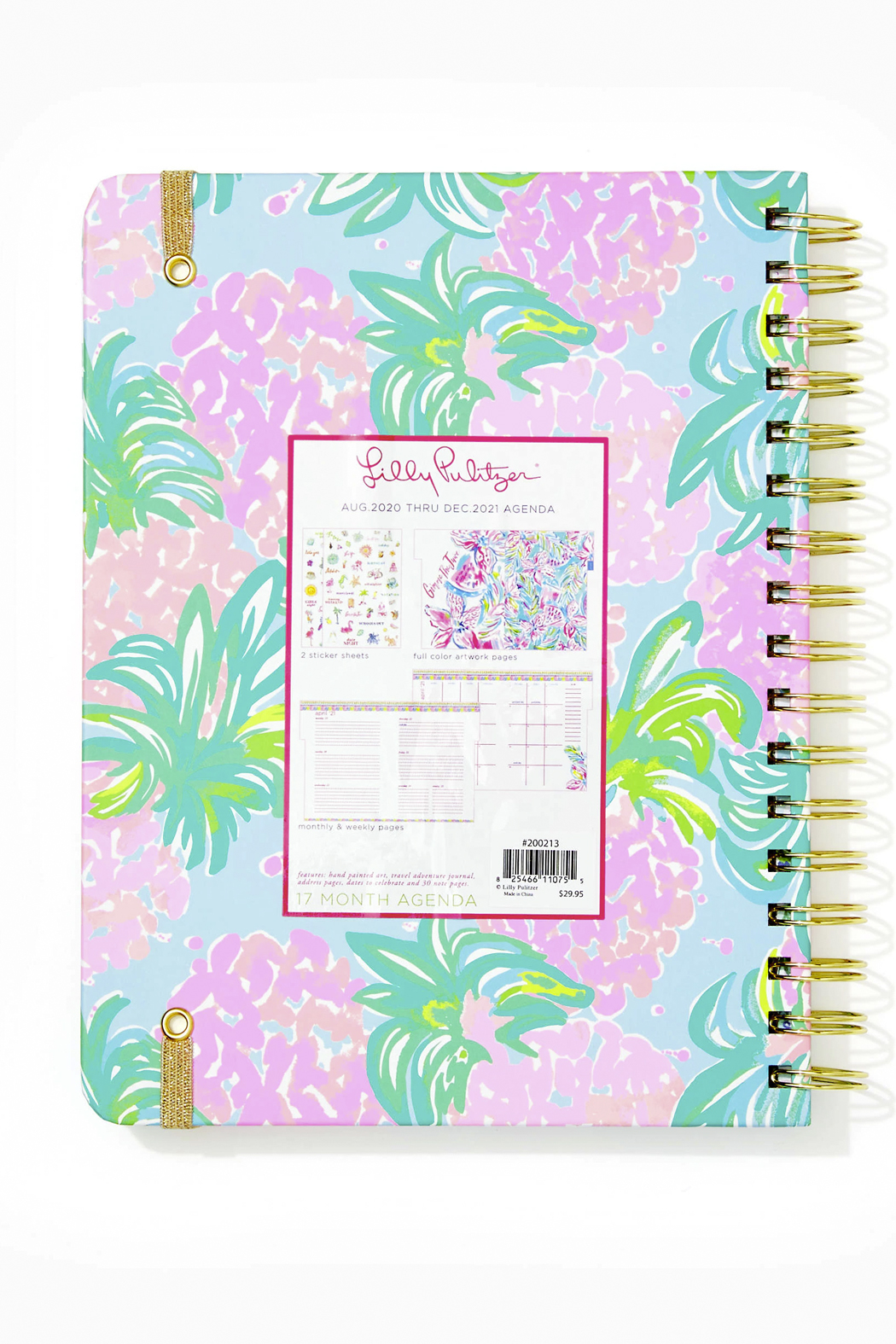 Lilly Pulitzer August 2020-December 2021 Large Agenda - 17 Month - Front Full Image