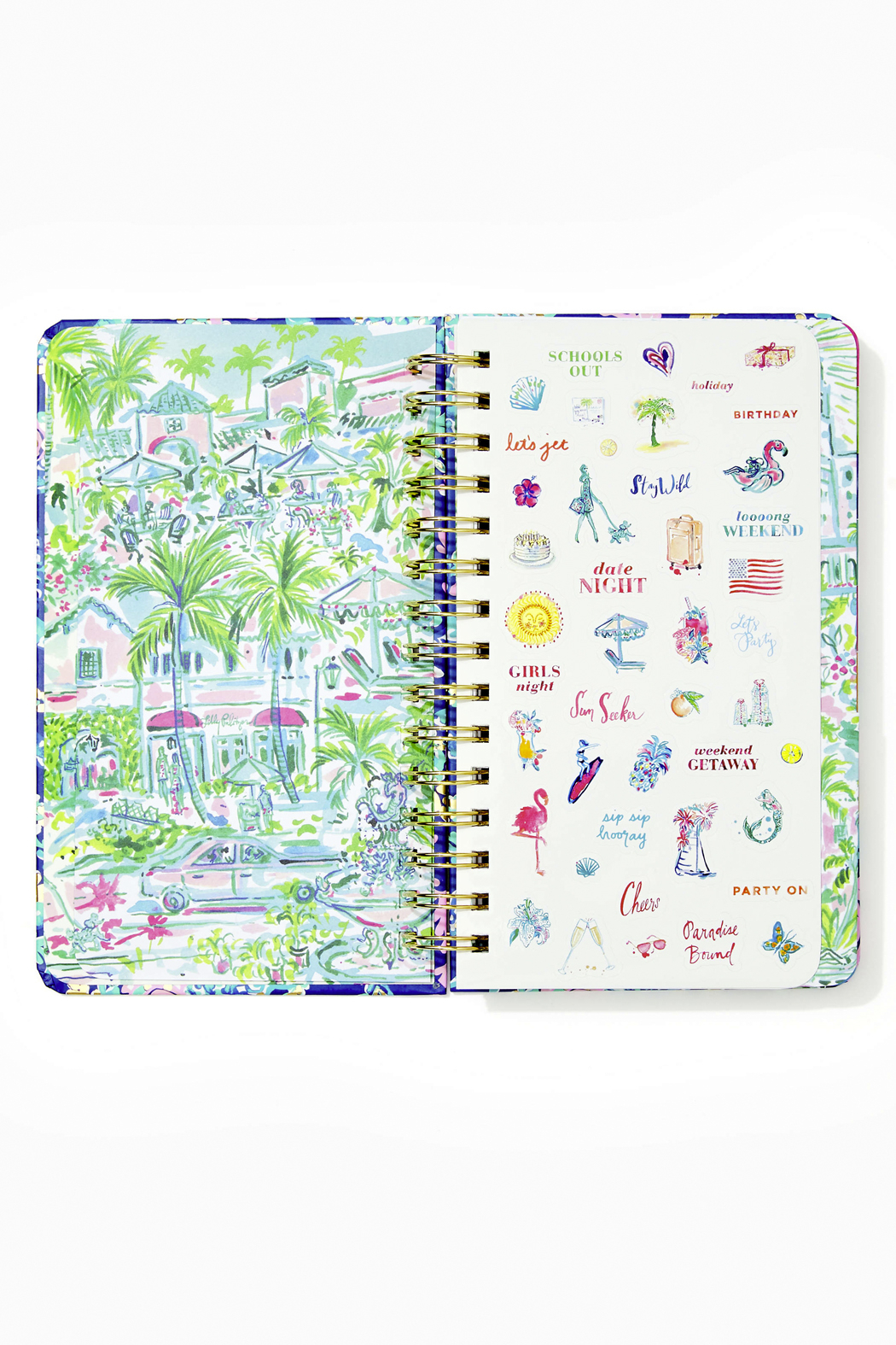 Lilly Pulitzer August 2020-December 2021 Medium Agenda - 17 Month - Side Cropped Image
