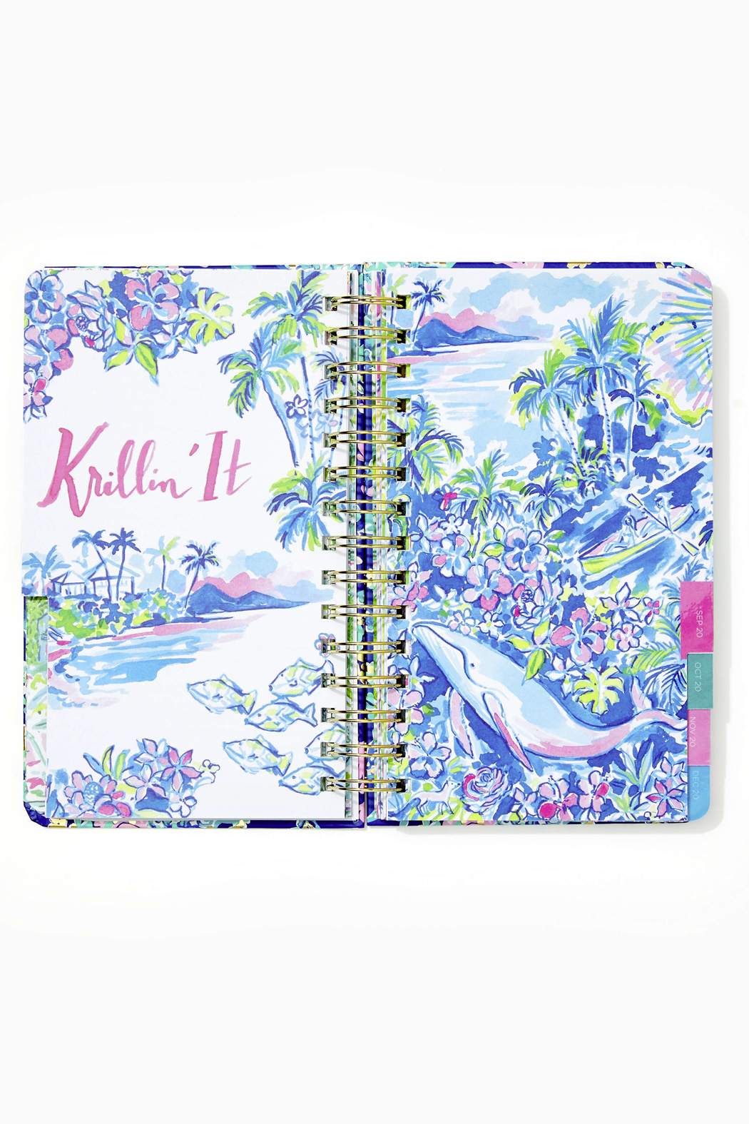 Lilly Pulitzer August 2020-December 2021 Medium Agenda - 17 Month - Back Cropped Image
