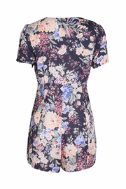 Auguste Buttondown Floral Playsuit - Front full body