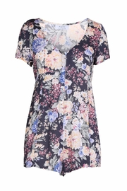 Auguste Buttondown Floral Playsuit - Front cropped