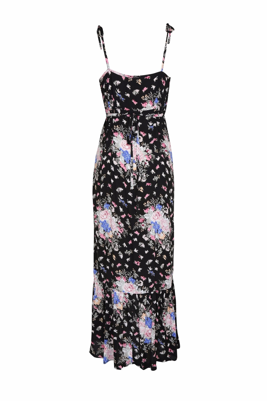 Auguste The Label  Dark Floral Dress - Front Full Image