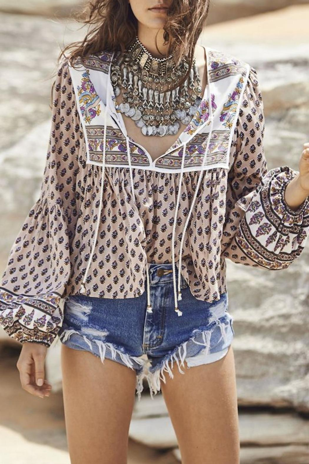 Auguste The Label  Open-Road Boho Blouse - Front Full Image
